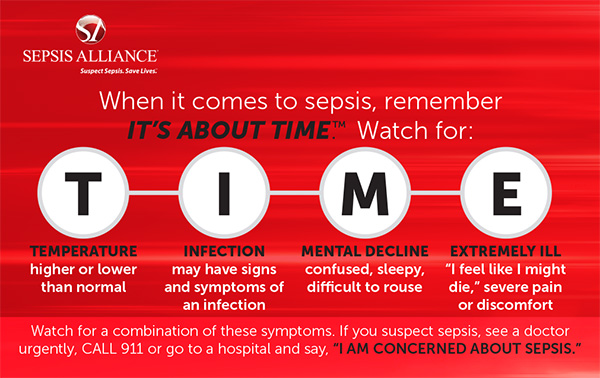 Bristol Serviced Apartments will try our best to let as many people know as possible about Sepsis